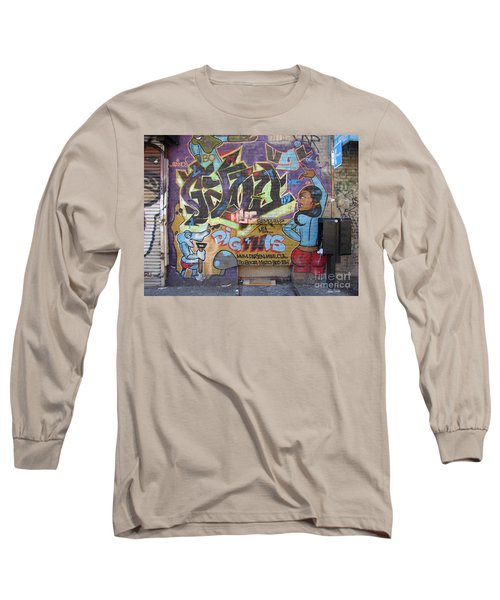 Long Sleeve T-Shirt featuring the photograph Inwood Graffiti  by Cole Thompson