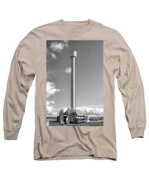 Jurassic Skyline Eye Tower  Long Sleeve T-Shirt by Baggieoldboy