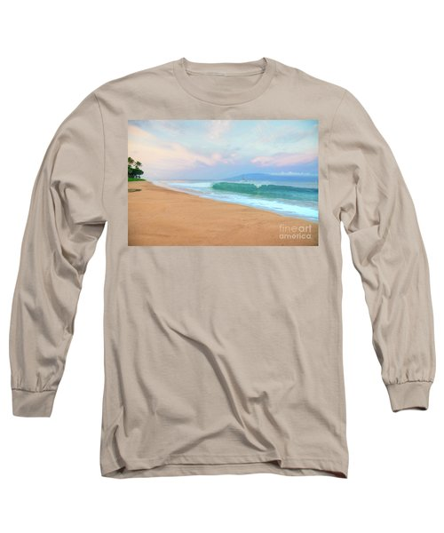 Long Sleeve T-Shirt featuring the photograph Ka'anapali Waves by Kelly Wade