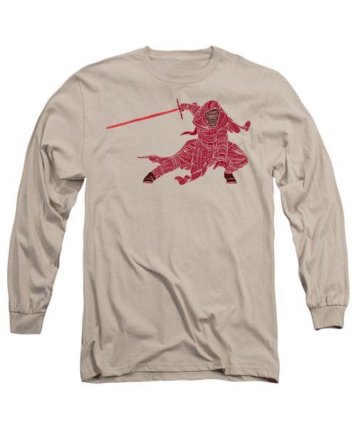 Kylo Ren - Star Wars Art - Red Long Sleeve T-Shirt