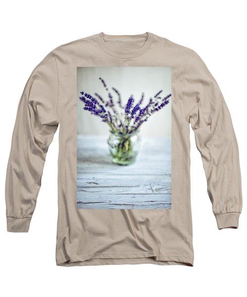 Lavender Still Life Long Sleeve T-Shirt