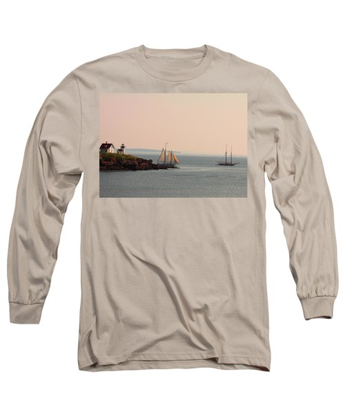 Leaving Camden Harbor Long Sleeve T-Shirt