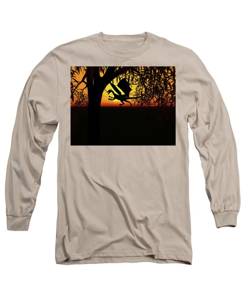 Lights And Shadow Long Sleeve T-Shirt by Michele Wilson