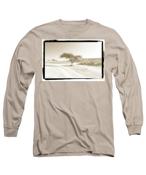 Lonely Tree Long Sleeve T-Shirt by Arik Baltinester