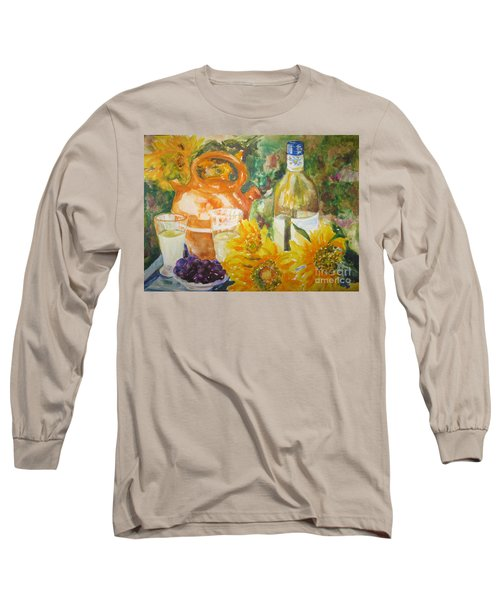 Lunch In Provence Long Sleeve T-Shirt by Lisa Boyd