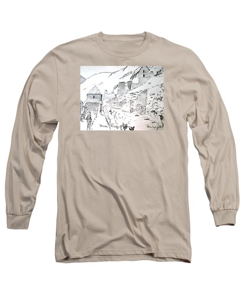 Machu Picchu Long Sleeve T-Shirt by Marilyn Zalatan