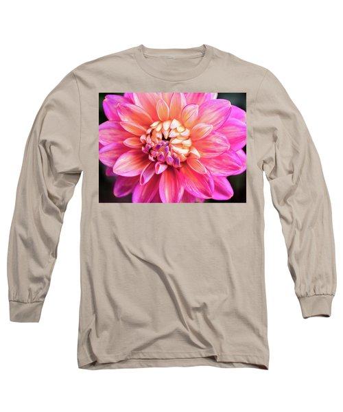 Magenta Dahlia Long Sleeve T-Shirt