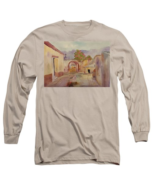 Mexican Street Scene Long Sleeve T-Shirt by Larry Hamilton