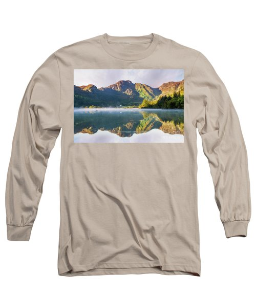Misty Dawn Lake Long Sleeve T-Shirt