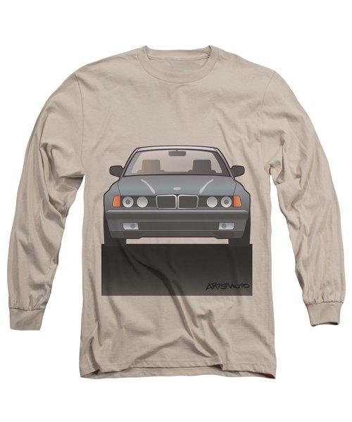 Modern Euro Icons Series Bmw E32 740i Long Sleeve T-Shirt