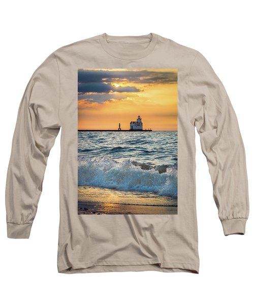 Long Sleeve T-Shirt featuring the photograph Morning Dance On The Beach by Bill Pevlor