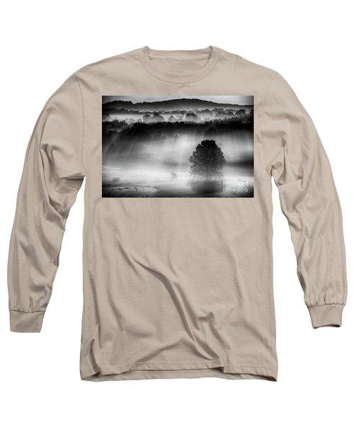 Morning Fog Long Sleeve T-Shirt by Nicki McManus