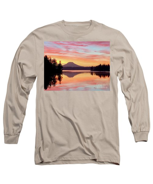 Mount Rainier Dawn Long Sleeve T-Shirt