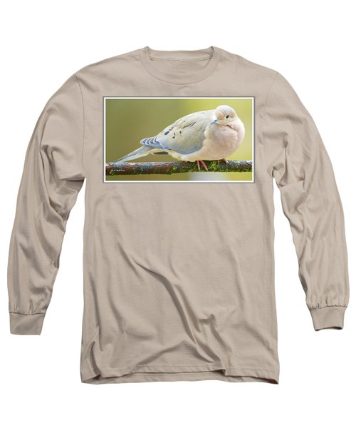 Mourning Dove On Tree Branch Long Sleeve T-Shirt