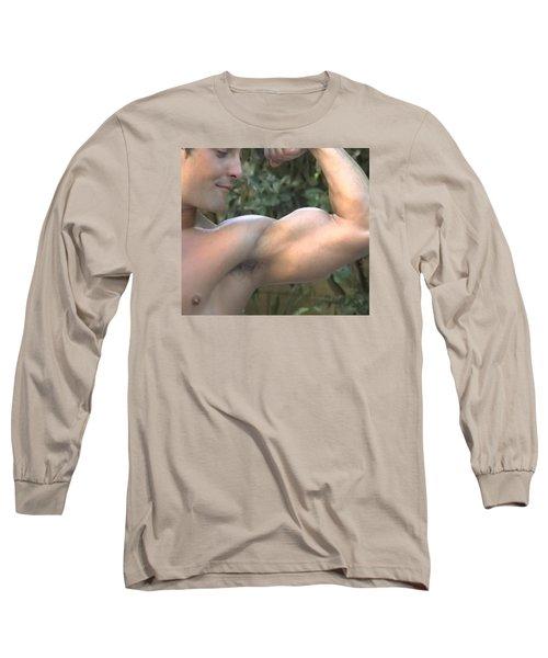 Mr. Biceps Long Sleeve T-Shirt by Jake Hartz