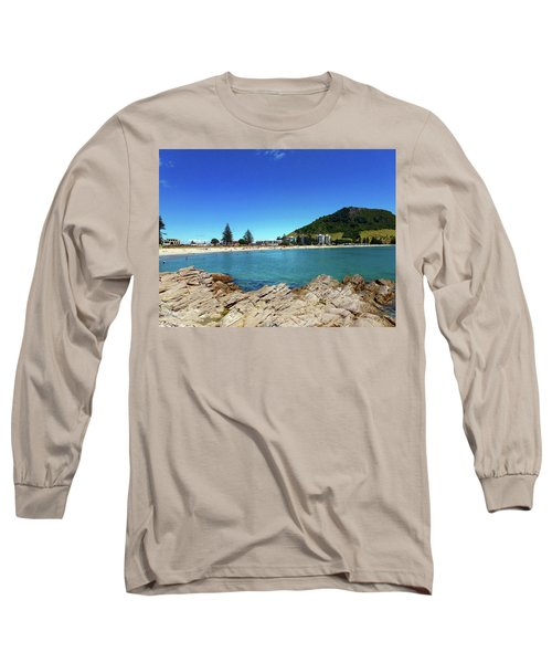 Mt Maunganui Beach 9 - Tauranga New Zealand Long Sleeve T-Shirt