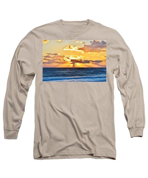 Nags Head Sunrise  Long Sleeve T-Shirt
