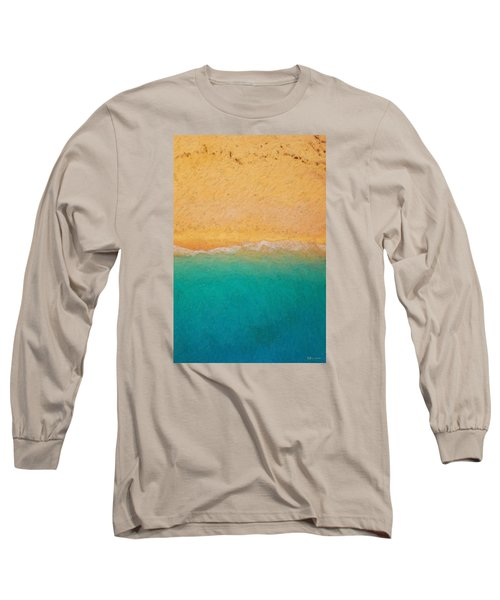 Not Quite Rothko - Surf And Sand Long Sleeve T-Shirt by Serge Averbukh