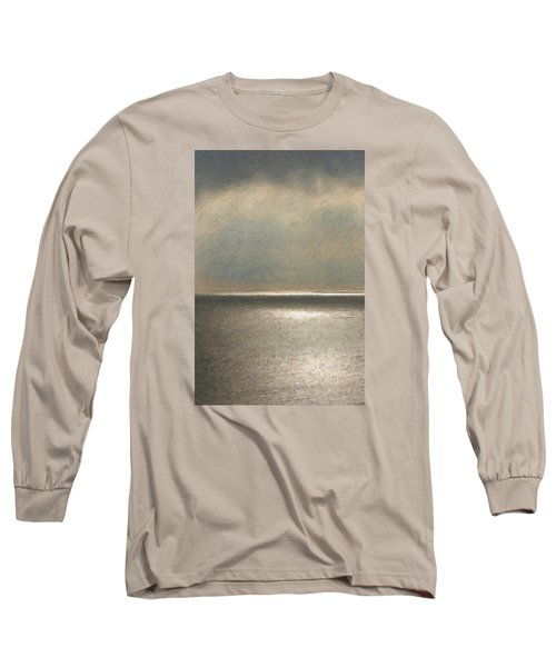 Not Quite Rothko - Twilight Silver Long Sleeve T-Shirt by Serge Averbukh