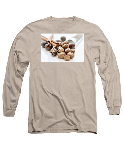 Nutmeg And Macis  Long Sleeve T-Shirt by Sabine Edrissi