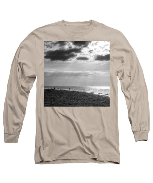 Old Hunstanton Beach, Norfolk Long Sleeve T-Shirt by John Edwards