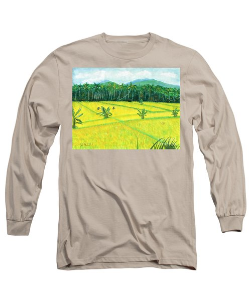 Long Sleeve T-Shirt featuring the painting On The Way To Ubud II Bali Indonesia by Melly Terpening