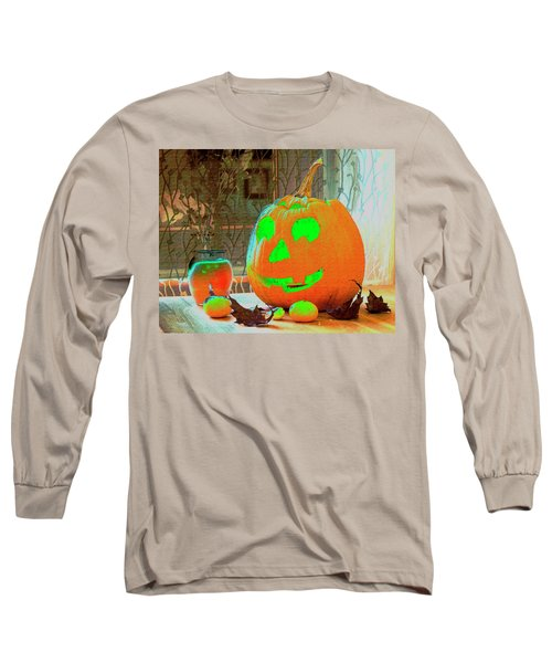Orange Halloween Decoration Long Sleeve T-Shirt
