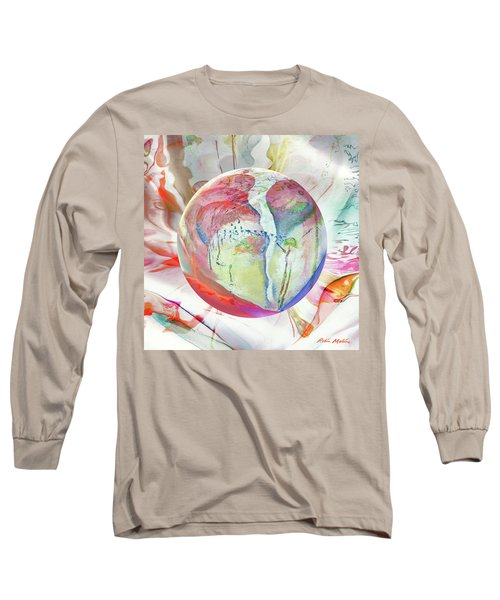 Long Sleeve T-Shirt featuring the digital art Orbiental Expression by Robin Moline