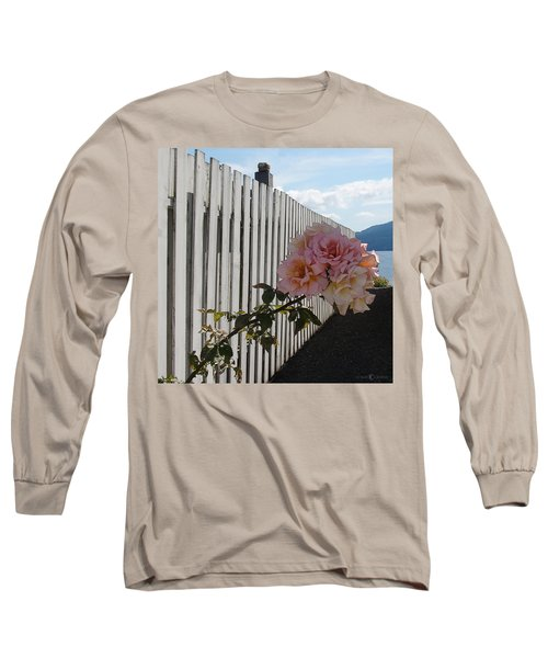 Orcas Island Rose Long Sleeve T-Shirt