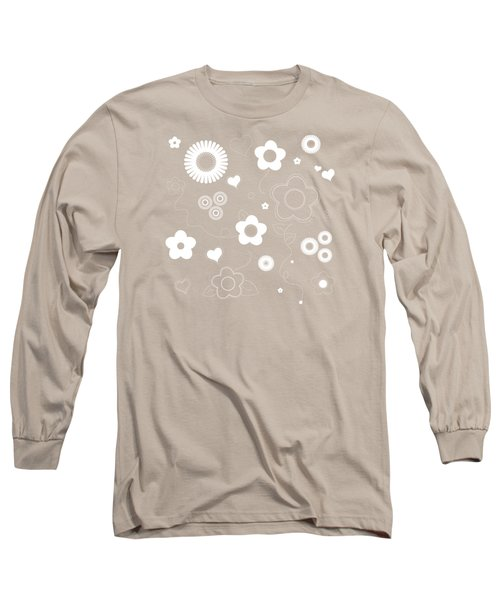 Playful Flower Background Long Sleeve T-Shirt