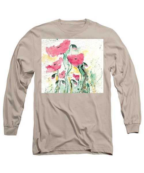 Poppies 10 Long Sleeve T-Shirt by Ismeta Gruenwald