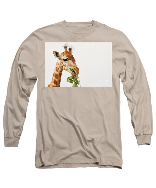 Portrait Of A Rothschild Giraffe  Long Sleeve T-Shirt