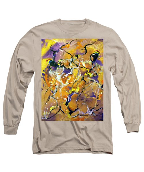 Long Sleeve T-Shirt featuring the painting Praise Dance by Raymond Doward