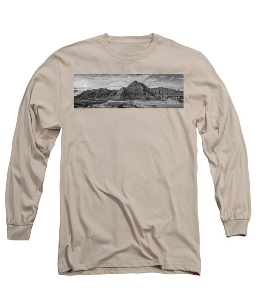 Pyramid In The Badlands Panorama Long Sleeve T-Shirt
