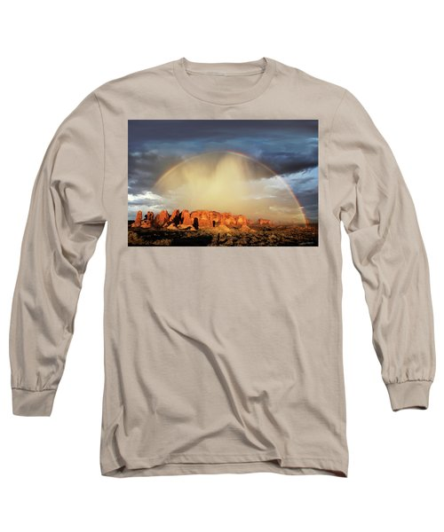 Rainbow Over Garden Of Eden Long Sleeve T-Shirt