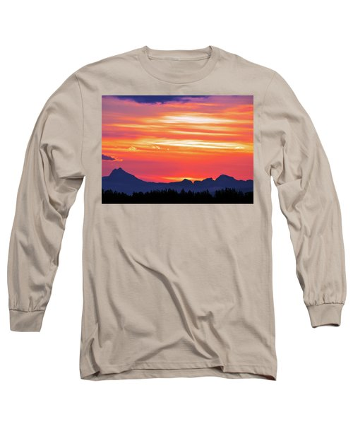 Red Sunrise Long Sleeve T-Shirt