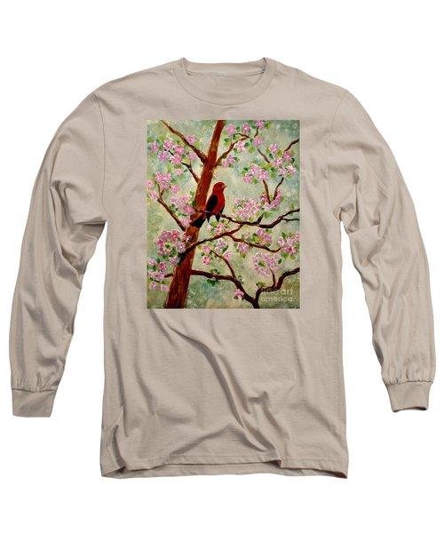 Red Tangler Long Sleeve T-Shirt by Denise Tomasura