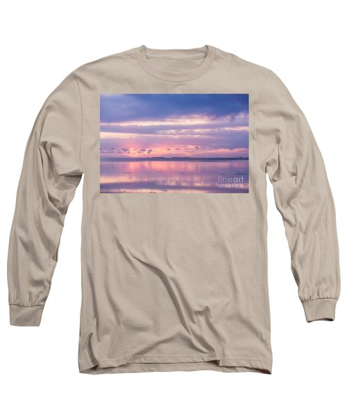 Reflections At Sunset In Key Largo Long Sleeve T-Shirt