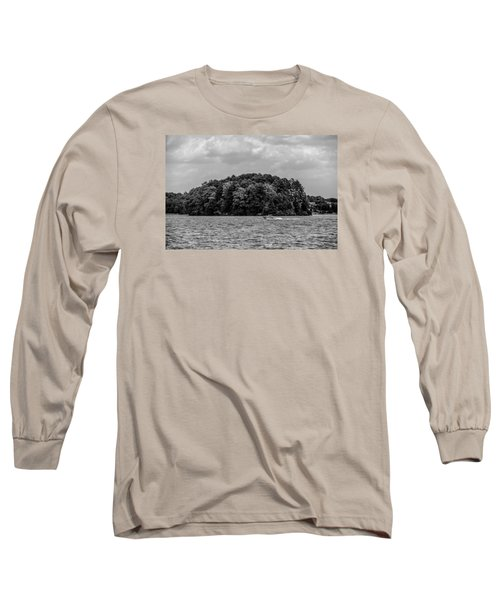 Relaxing On Lake Keowee In South Carolina Long Sleeve T-Shirt by Alex Grichenko