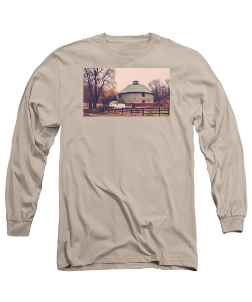 Round Barn Long Sleeve T-Shirt by Dan Traun