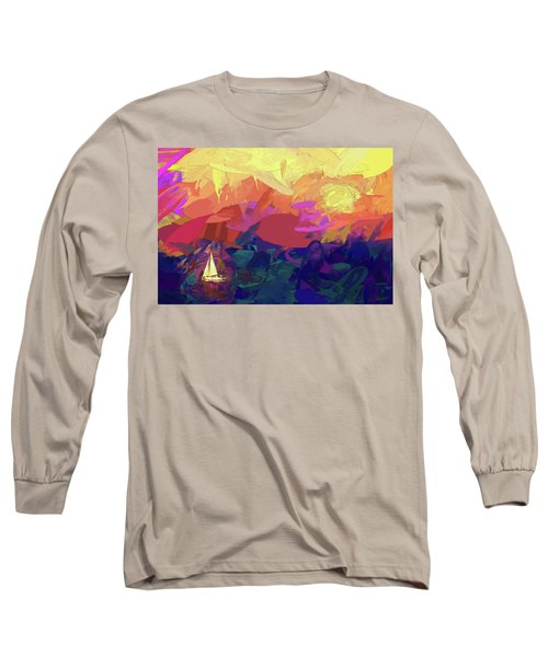 Long Sleeve T-Shirt featuring the photograph Sailing by James Bethanis