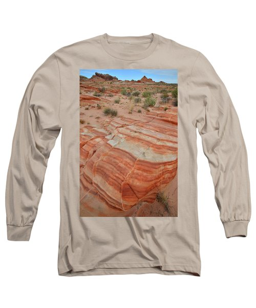 Long Sleeve T-Shirt featuring the photograph Sandstone Stripes In Valley Of Fire by Ray Mathis