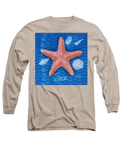 Seashells On Blue-sea Long Sleeve T-Shirt