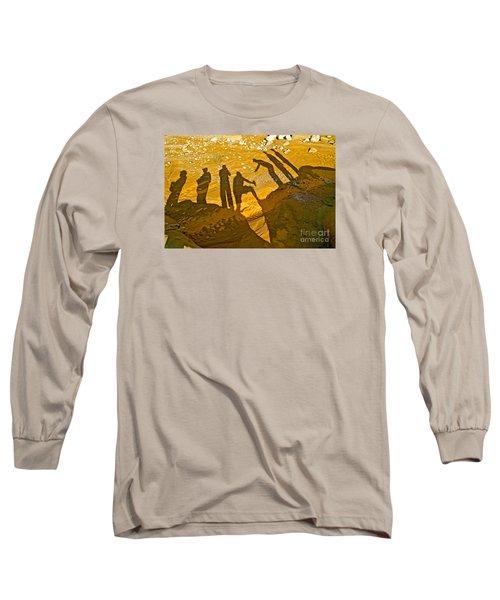Self Portrait  Long Sleeve T-Shirt by Michael Cinnamond