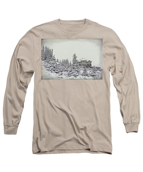 Long Sleeve T-Shirt featuring the photograph Snow In July by Teresa Zieba