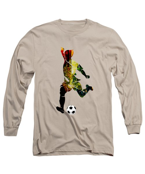 Soccer Collection Long Sleeve T-Shirt by Marvin Blaine