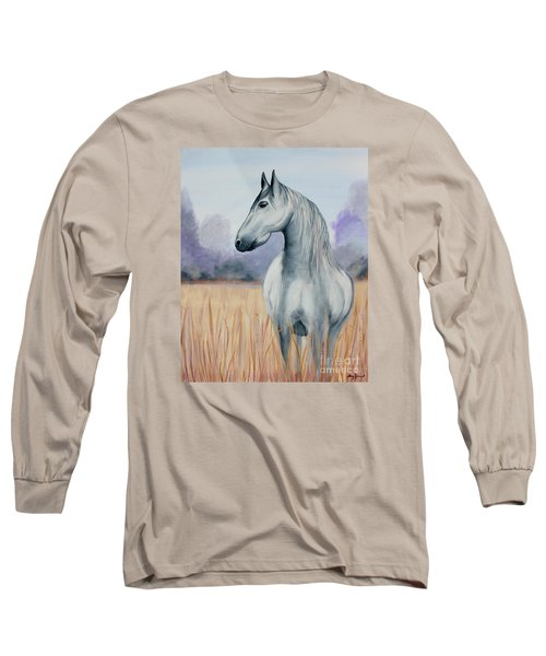 Long Sleeve T-Shirt featuring the painting Solemn Spirit by Stacey Zimmerman