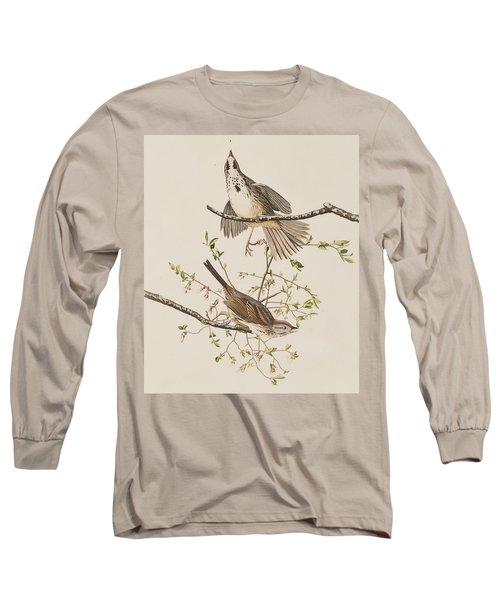 Song Sparrow Long Sleeve T-Shirt by John James Audubon
