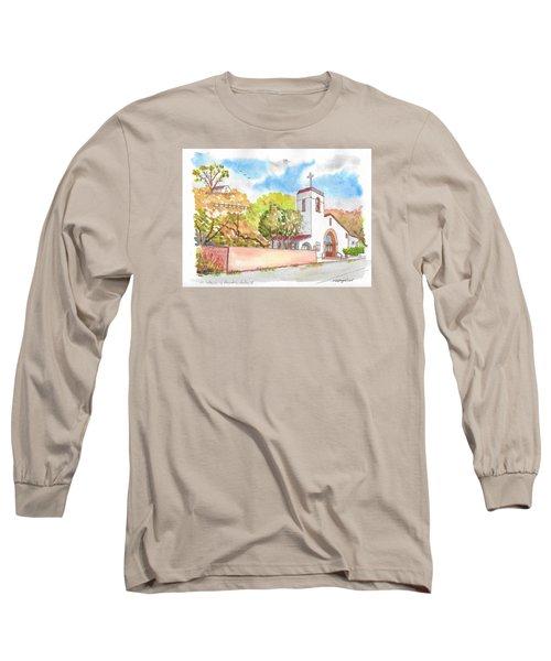 St. Catherine Of Alexandria Catholic Church, Avalon, Santa Catalina Island, Ca Long Sleeve T-Shirt