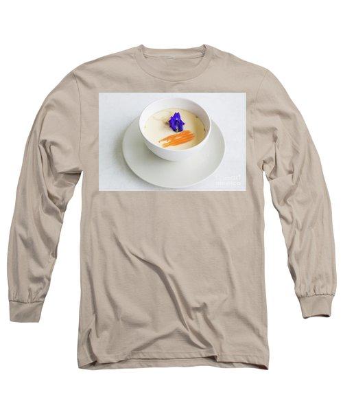 Long Sleeve T-Shirt featuring the photograph Steamed Egg by Atiketta Sangasaeng